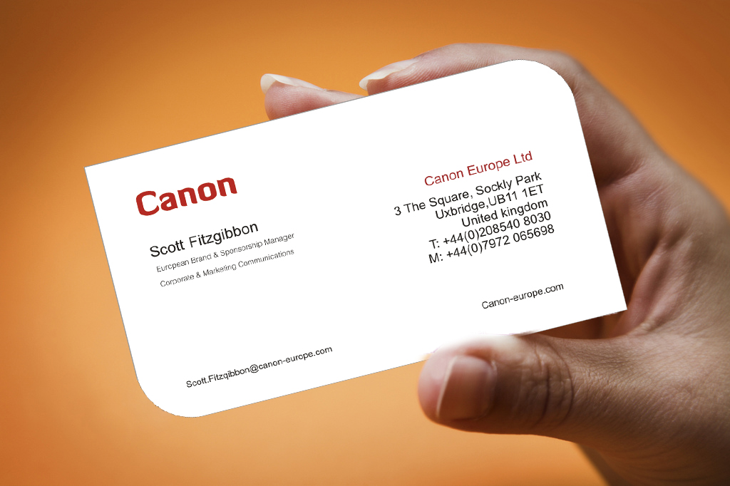 Sandipan Saha Graphics Works: CANON Visiting cards Designs ...