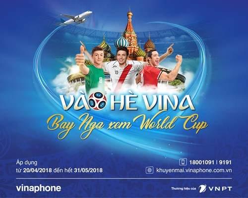 Nạp thẻ Vina trúng vé xem World Cup tại Nga - Ảnh 1
