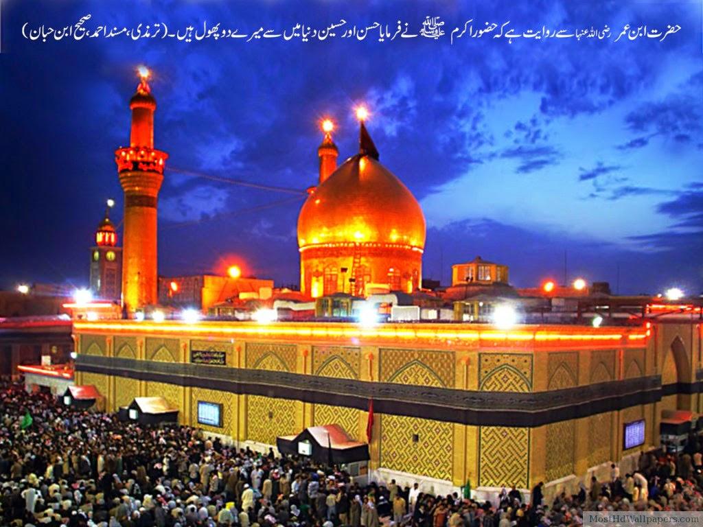 Maula Ali Shrine Wallpaper: Roza E Imam E Hussain A.s Pictures.
