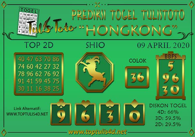 Prediksi Togel HONGKONG TULISTOTO 09 APRIL 2020