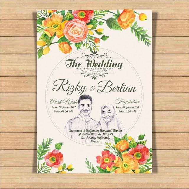 Undangan Pernikahan Rizky & Berlian, Pengusaha Muda yang raup omset milyaran