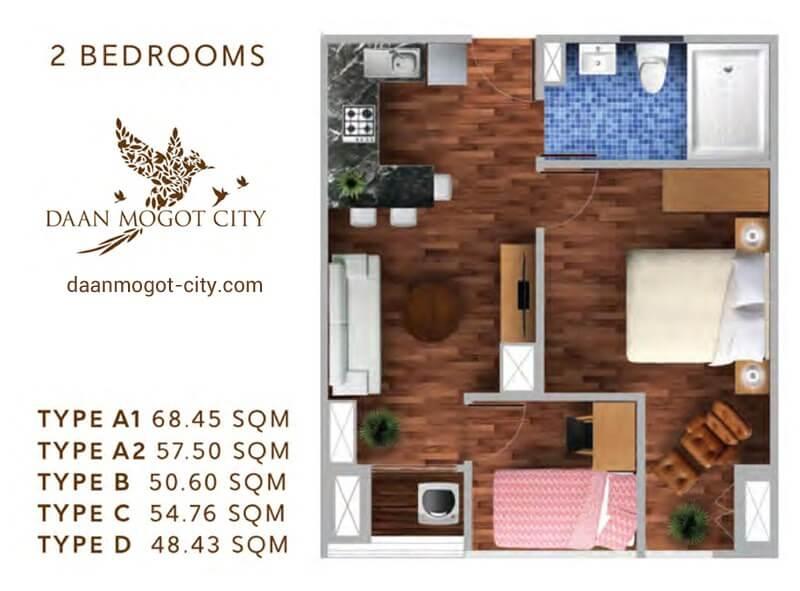 Apartemen DAMOCI Jakarta Tipe 2 BR