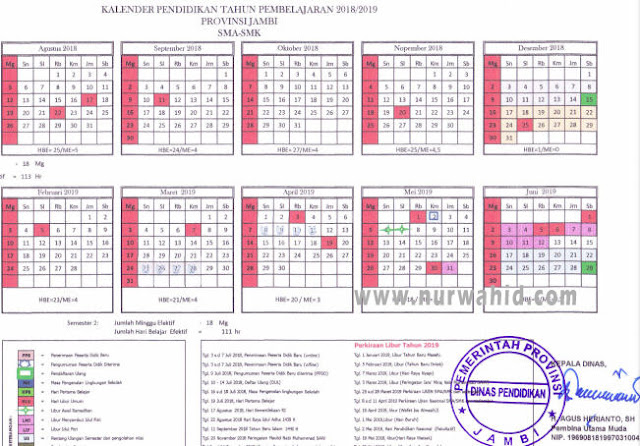 Kalender Pendidikan Provinsi Jambi