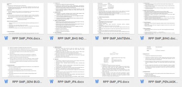 RPP Silabus Perangkat Pembelajaran SMP Kurikulum 2013