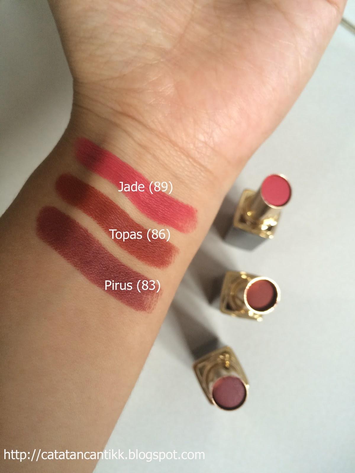 Catatan Cantik Review Purbasari Matte Lipstick Pirus 83