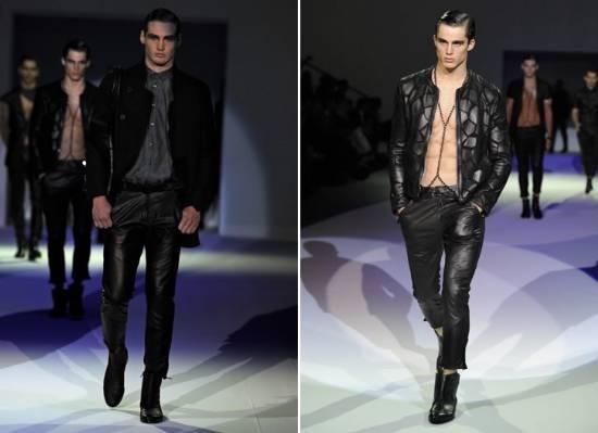 JEFF LEME  Desfile Emporio Armani Semana de Moda Masculina de Milão Primavera  Verão 2011 2012 d069479e09