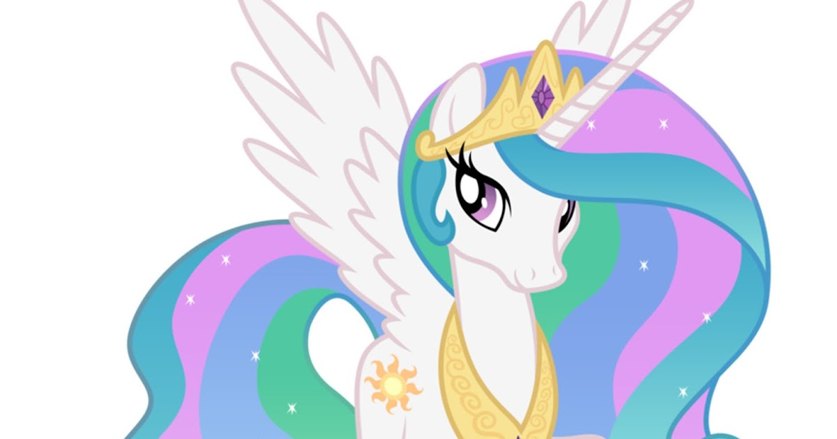 My Little Pony: Dibujos para imprimir y recortar de la Princesa Celestia