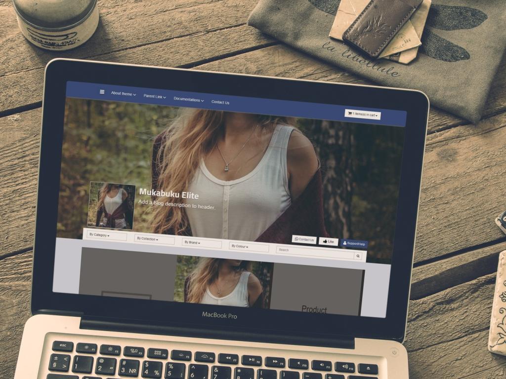 Blogger Shopping Template Facebook Inspired Blogrcart Mukabuku Elite