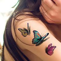 hermoso tatuaje de mariposas
