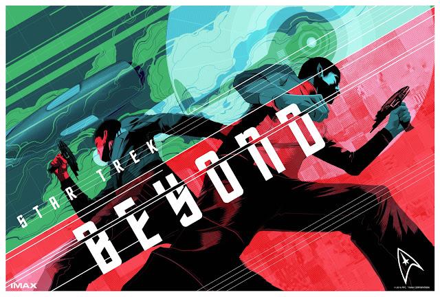Pósters limitados de 'Star Trek: Más allá' con motivo de las maratones