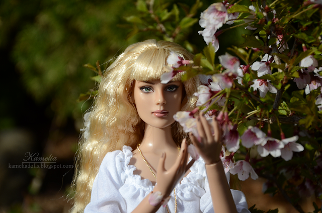 White blouse for doll