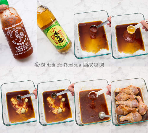 Baked Sriracha Honey Chicken Drumsticks Procedures