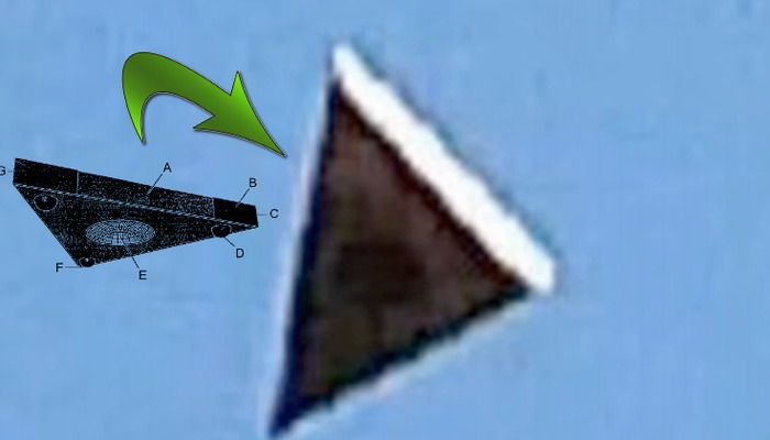 Impresionante Nave Triangular Anti Gravedad es captada en Orlando, Florida.