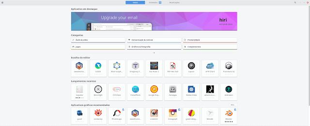 GNOME Software no Linux Mint