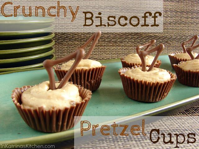 Crunchy Biscoff Pretzel Cups from @KatrinasKitchen