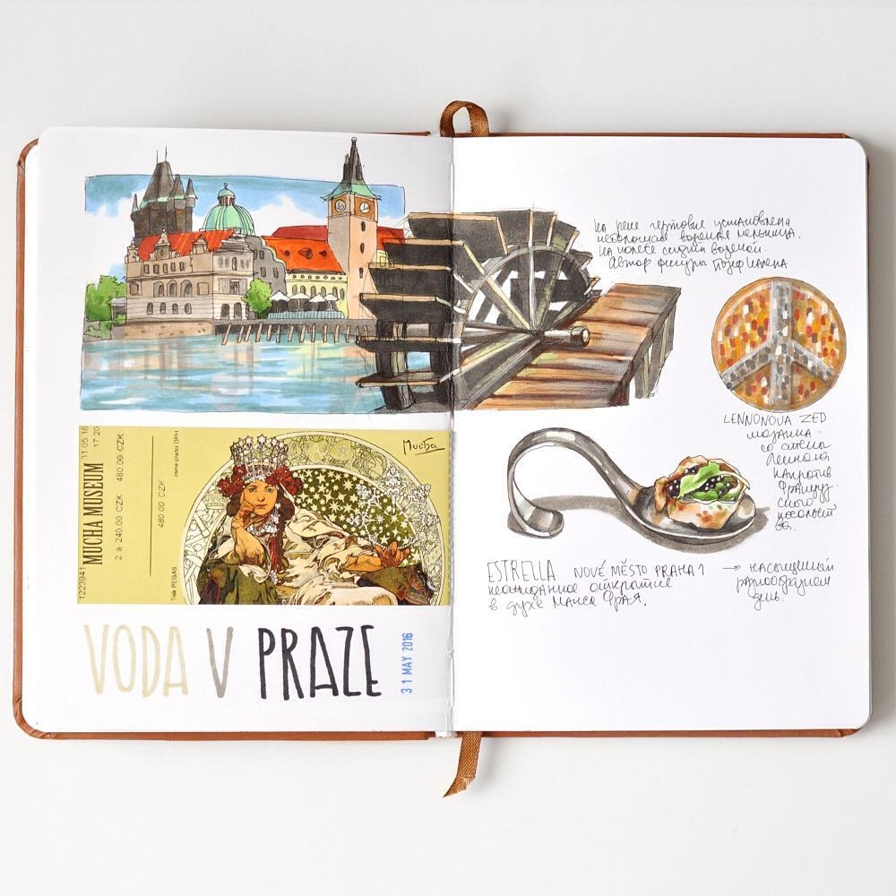11-Vltava-Lennon-Estrella-Mucha-Anna-Rastorgueva-Architecture-Travel-Journal-Urban-Sketches-Illustrations-www-designstack-co