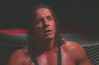 "WCW World War 3 1998 - Bret 'The Hitman' Hart cut a backstage promo on all his enemies in ""The WCW"""