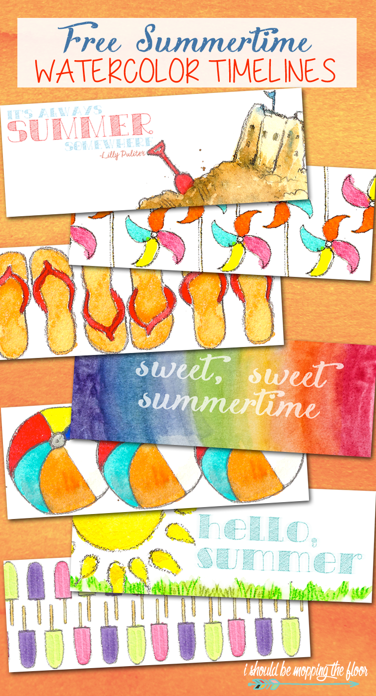 Free Summertime Watercolor Facebook Timelines | Six Free Designs | Instant Downloads