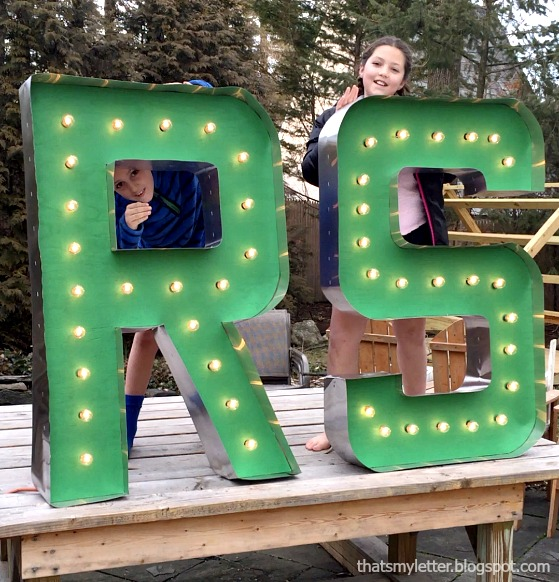 giant marquee letters with lights