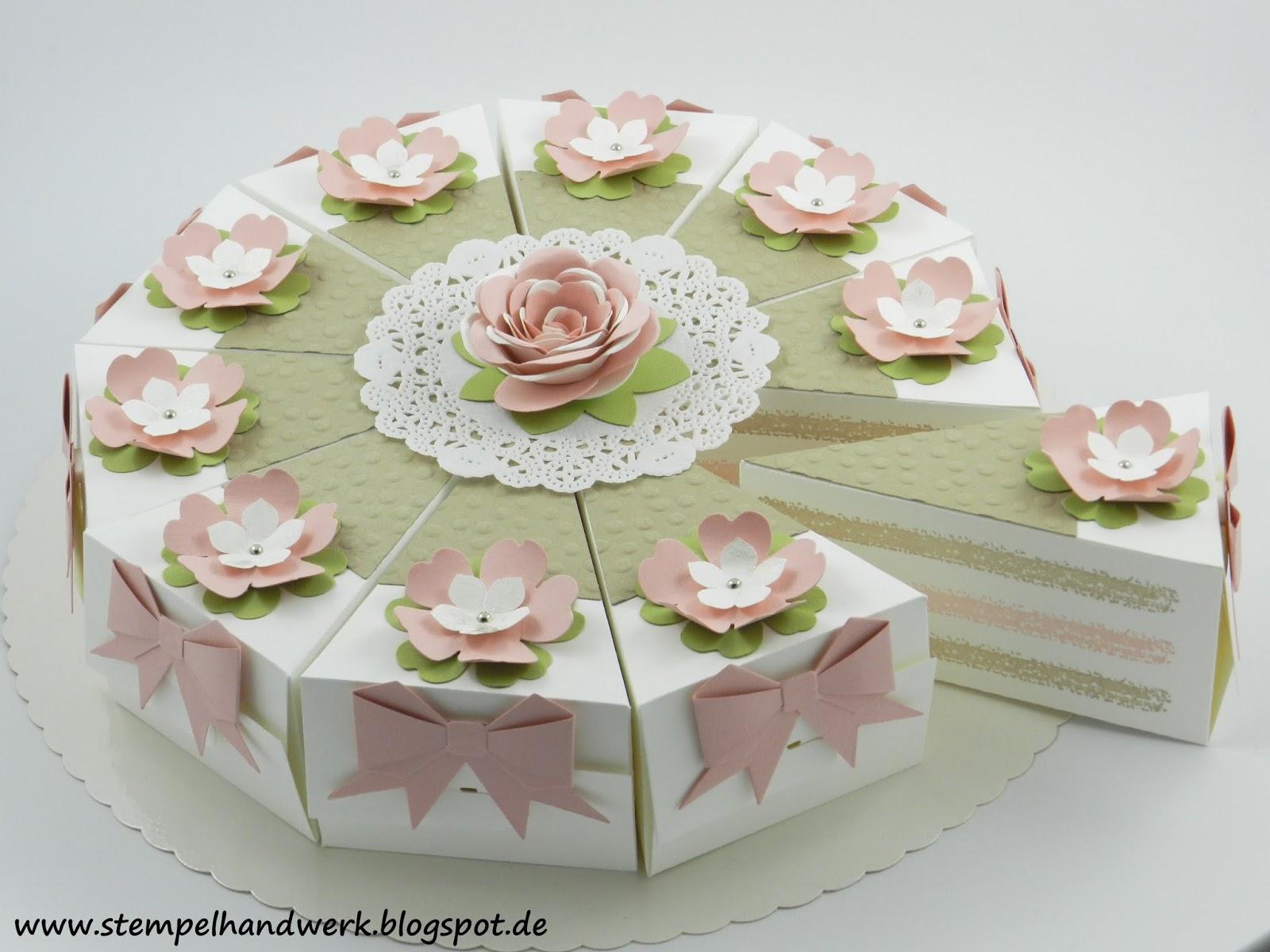 Stempelhandwerk Kalorienarme Torte Als Geldgeschenk Zur Hochzeit