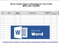Contoh Buku Catatan Kasus Siswa Download Gratis Format Word