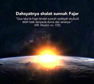 Bacaan Niat Shalat Fajar (Sholat Sunnah Sebelum Subuh)
