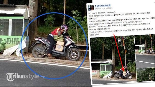 Alamak..!!! Wanita Ini Jadi Viral di Medsos Setelah Menepikan Motornya dan Lakukan Hal Berikut!