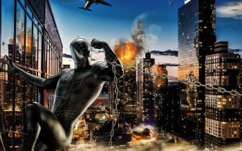Wallpaper: Photoshop Fan Art Spider Man