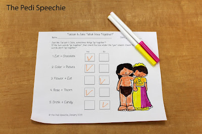 speech therapy Valentine's Day worksheets-your students will love these fun worksheets!
