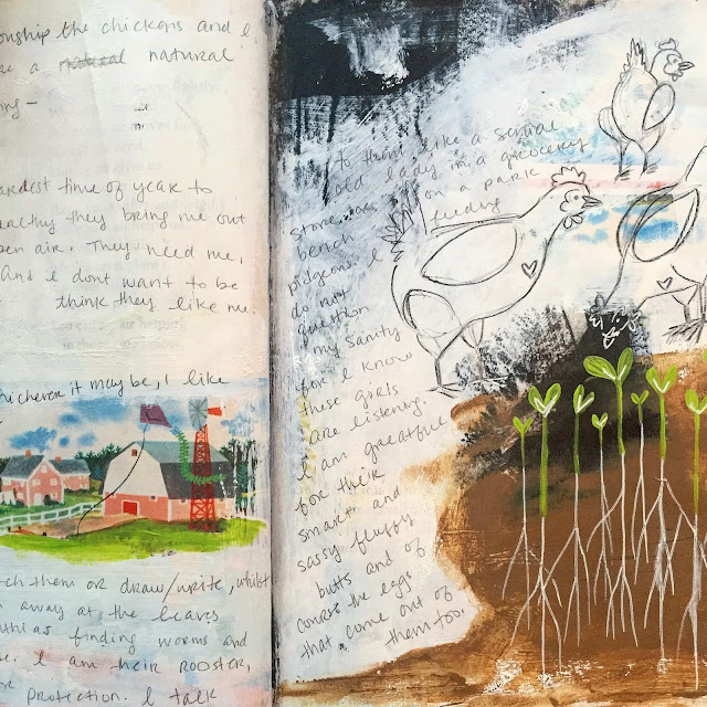 Ashlie Blake, Painting Bliss, Sketchbook, Art Journal, Sketchbook Conversations, My Giant Strawberry