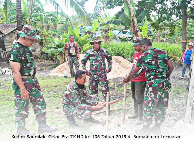 Kodim Saumlaki Gelar Pra TMMD ke 106 Tahun 2019 di Bomaki dan Lermatan