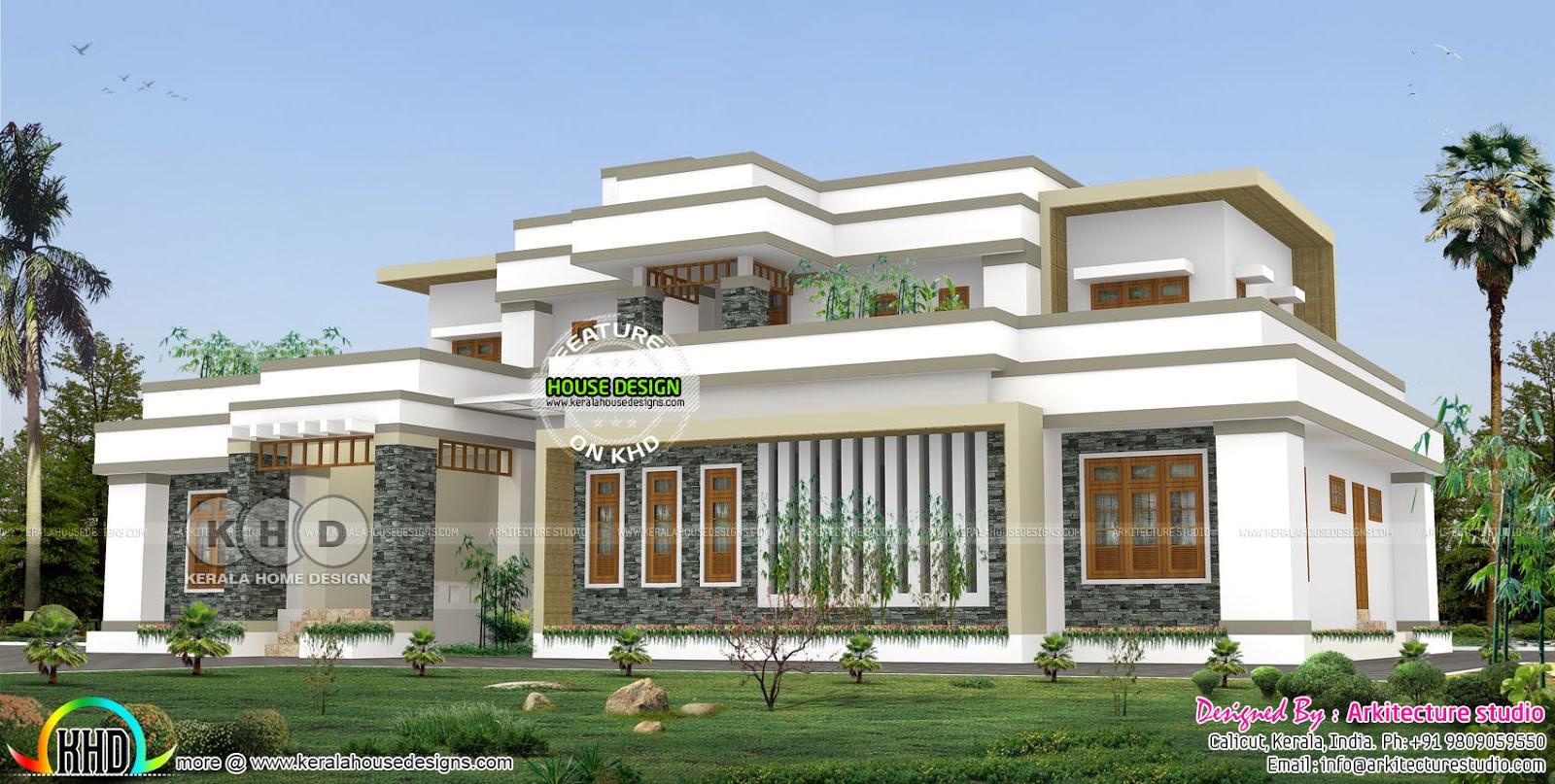 4000 square feet 4 bedroom modern luxury house | Kerala ...