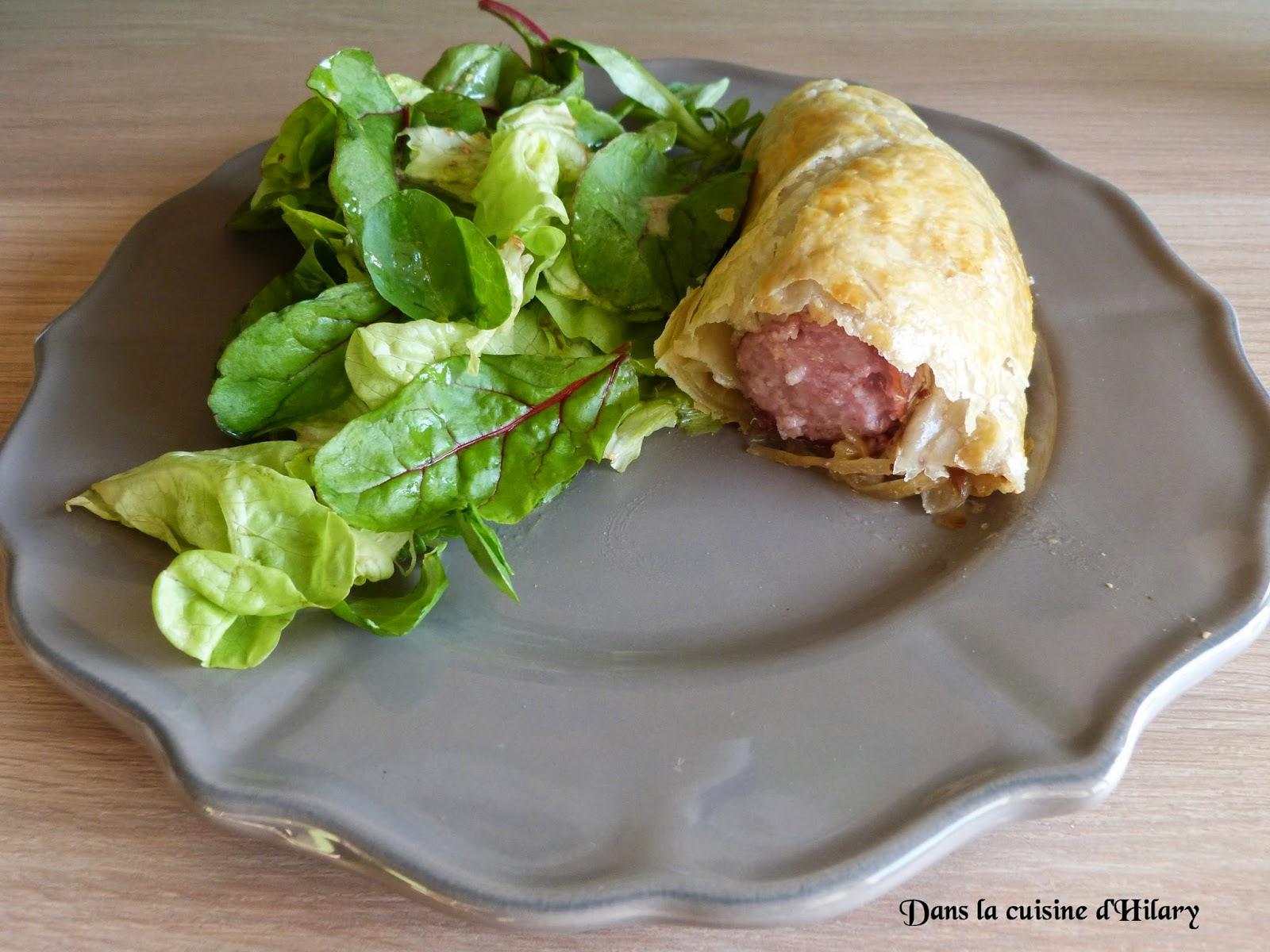 Feuilleté à la saucisse de Montbéliard