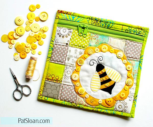 http://blog.patsloan.com/2016/07/pat-sloan-free-bumble-bee-pouch-pattern.html
