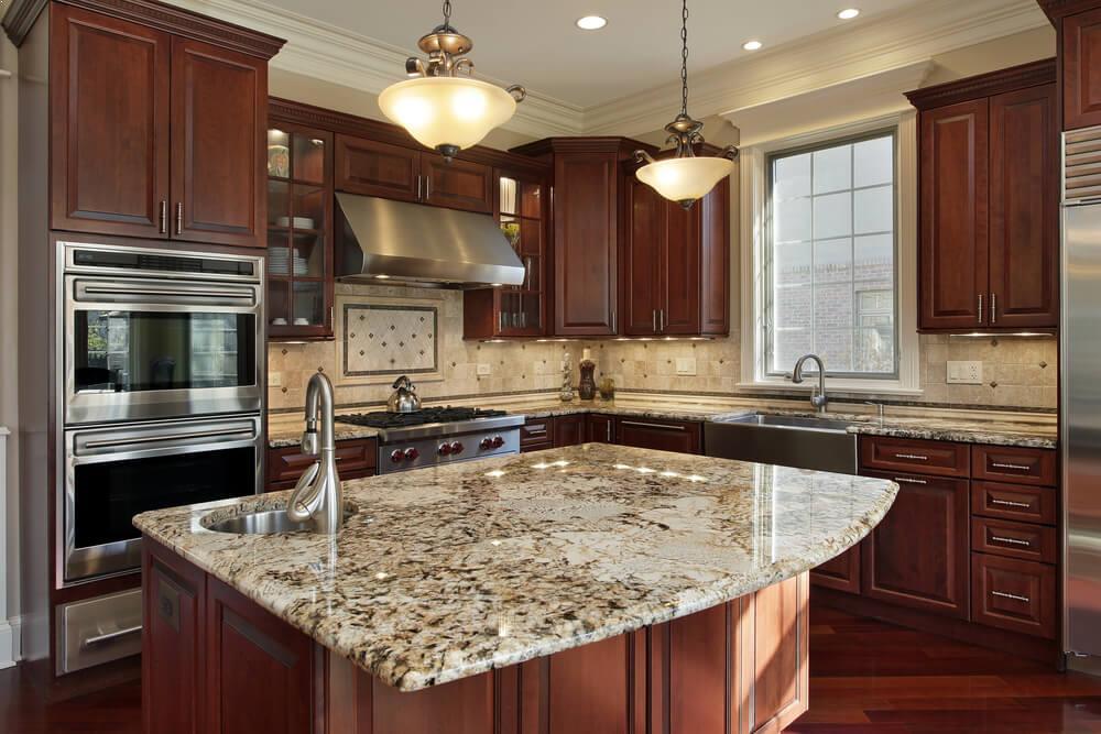 Small Kitchen Brown Cabinets Home Interior Exterior Decor Design Ideas