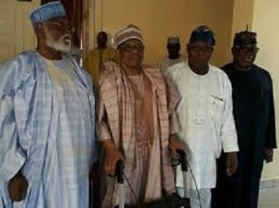Obasanjo, IBB, Abdulsalami meet over Buhari's health