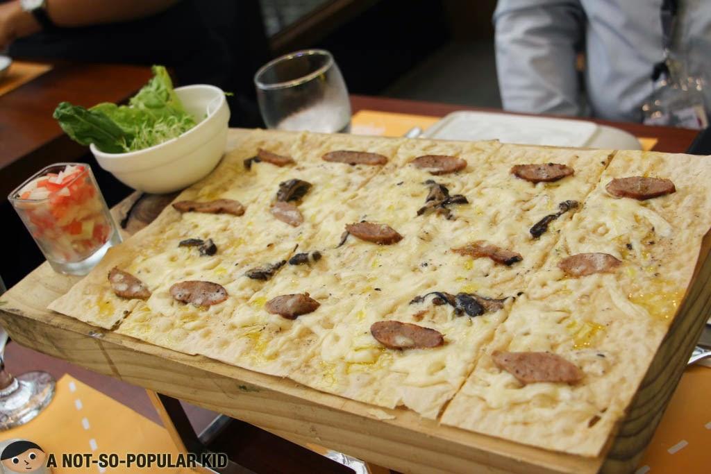 White Truffle Sausage Panizza of Torch Restaurant