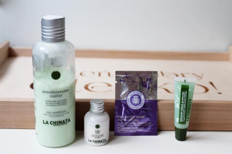 Kosmetyki La Chinata - odżywka do włosów, mleczko do ciała, balsam do ust, maseczka do twarzy