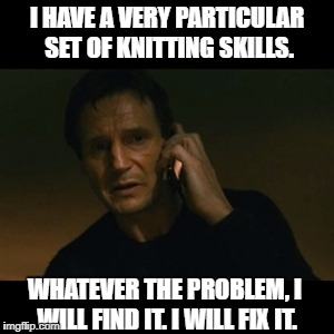Liam Neeson a particular set of skills meme