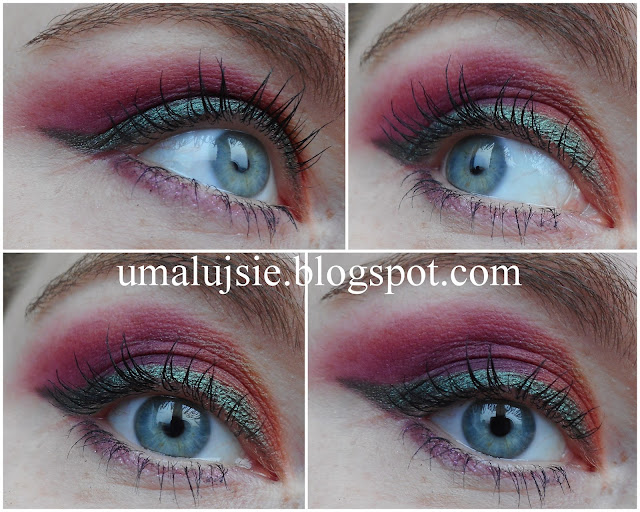 PANI JESIEŃ: matowy makijaż z perłową kreską w jesiennych kolorach