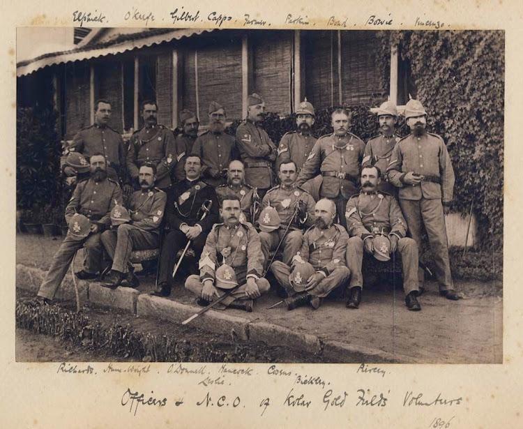 Officers & NCOs of Kolar Gold Fields Volunteers - Karnataka, 1896