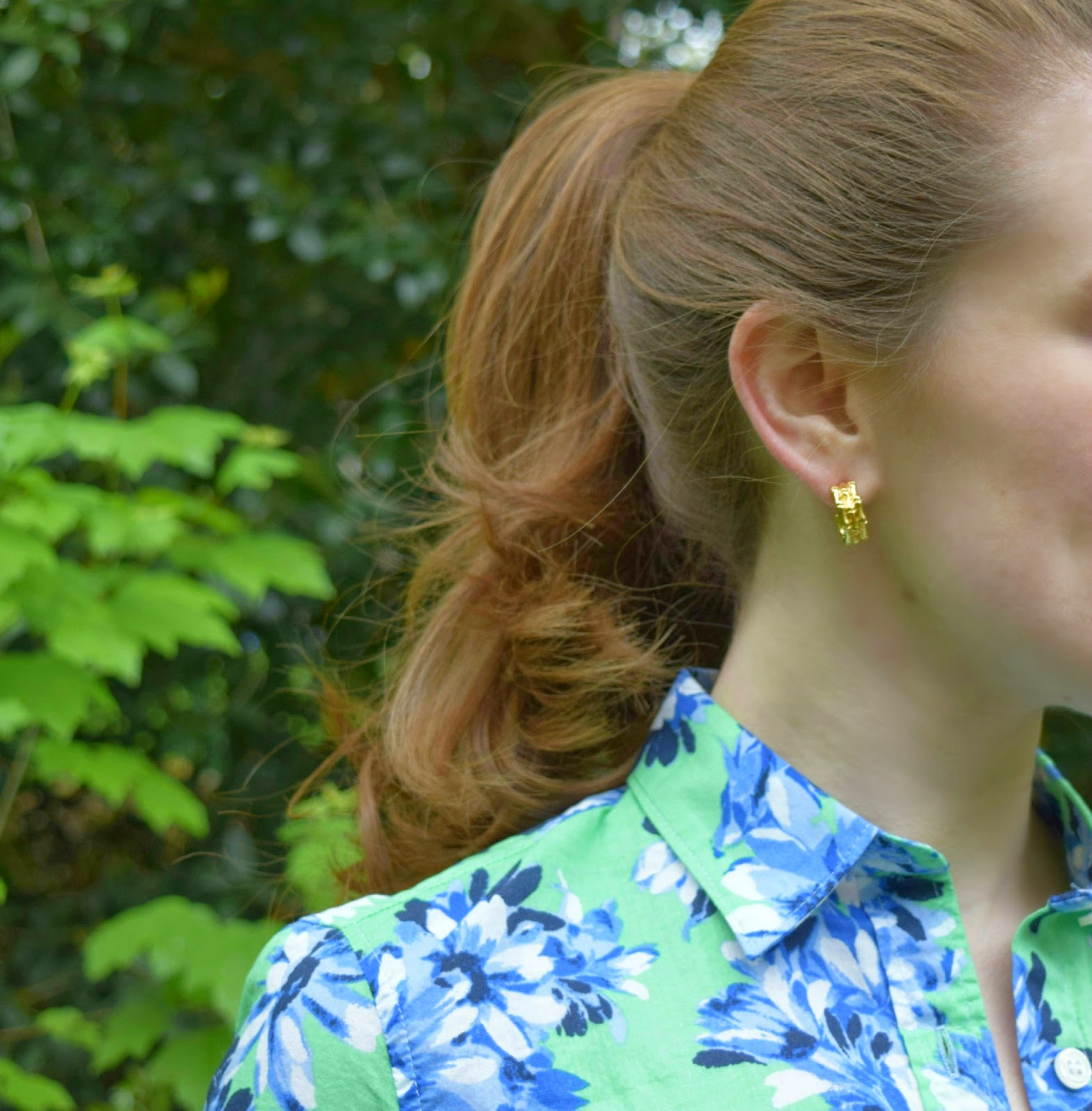 j.crew floral shirt - green floral shirt - j.crew factory floral shirt