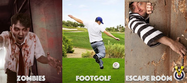 Zombies, Footgolf & Escape Room