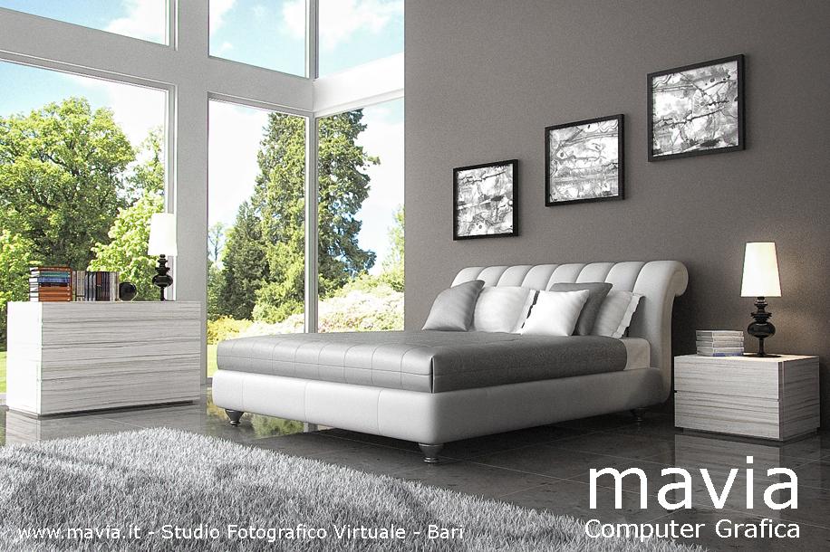 Arredamento di interni letti 3d modelli 3d di letti for Letto moderno design