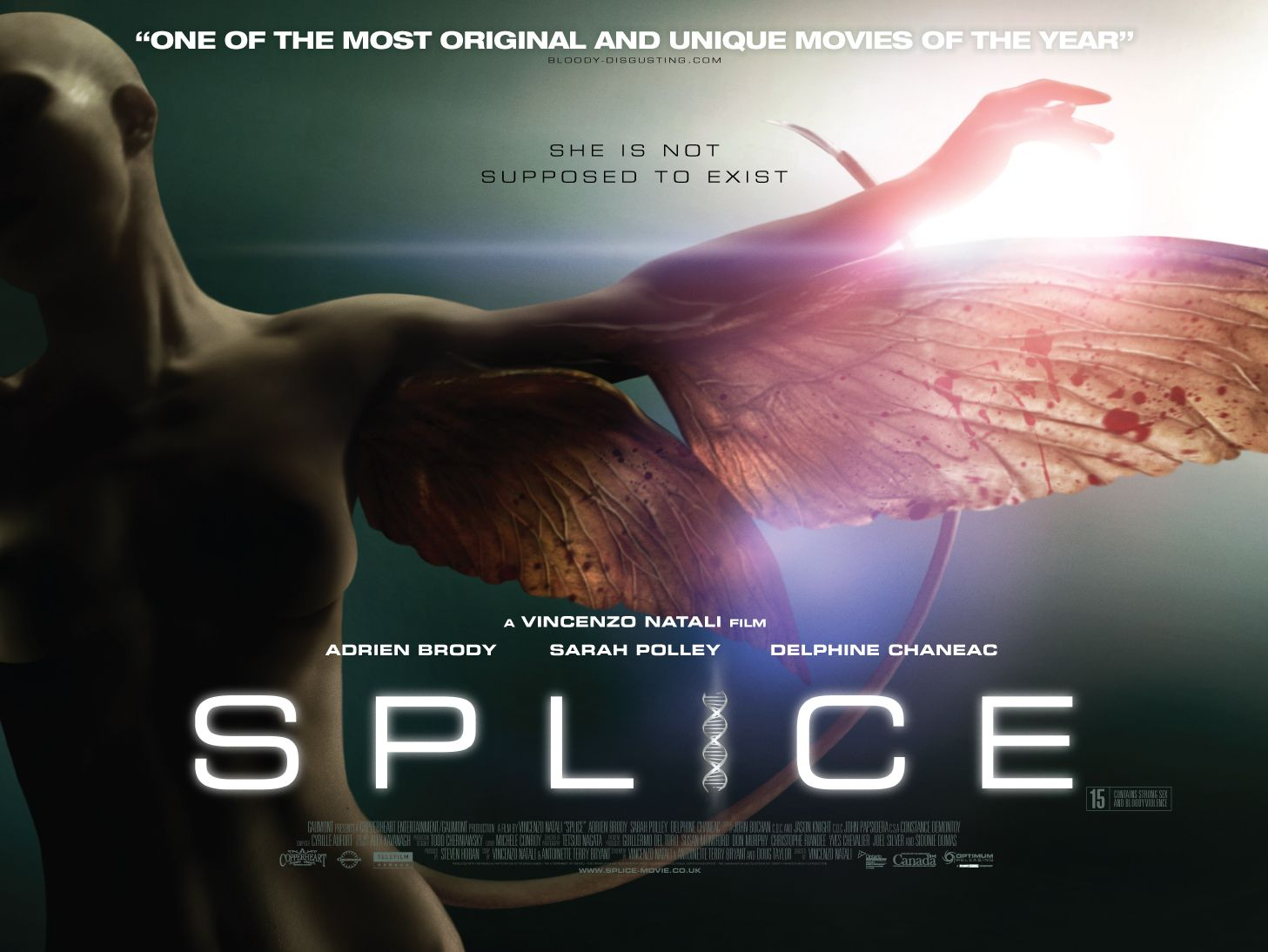Movie Posters 2009: Exhale: Movie Review (Yay): Splice (2009