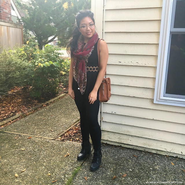 OOTD Red Leopard Print Scarf Gamiss Review - Andrea Tiffany A Glimpse of Glam