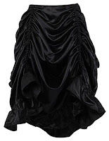 women's steampunk clothing. Burvogue Gothic Black Skirt