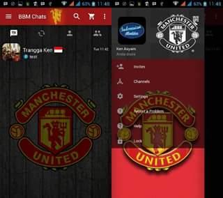 BBM Mod Manchester United 3.0.0.18 Terbaru