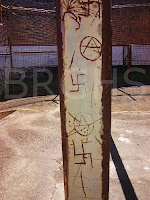 Political symbols of white frustration, Boggo Road Gaol yards. (BRGHS)