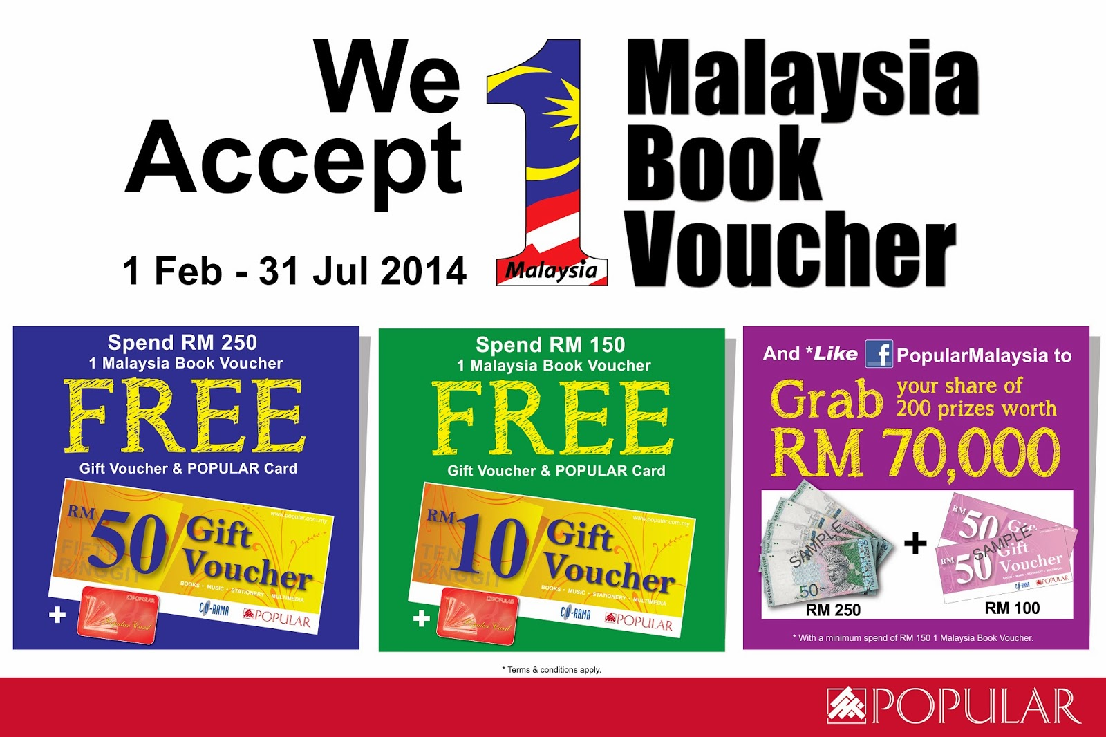 BB1M 1Malaysia Book Voucher Popular Bookstore Promotion